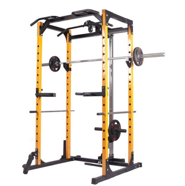 squat rack yelow